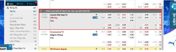 CFR Cluj vs Lincoln Red Imps